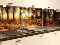 Скинали из стекла — 100 фото идей красивого оформления фартука на кухне