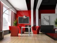 Красная гостиная — обзор вариантов шикарного дизайна гостиной в красных тонах (70 фото)