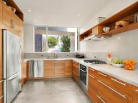 Кухня с мойкой под окном — лучший дизайн кухни в современном стиле (75 фото)