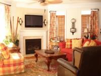 Оранжевая гостиная — варианты идеального сочетания оранжевого цвета в гостиной (70 фото)