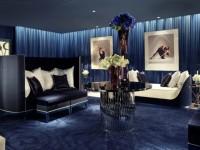 Синяя гостиная — красивое и яркое сочетание синего оттенка в гостиной (85 фото)