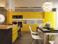 Желтая кухня — 75 фото идеального сочетания желтого цвета в интерьере кухни