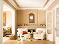 Бежевая гостиная — сочетание нежных оттенков в интерьере гостиной на 75 фото