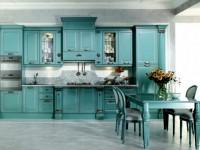 Голубая кухня — 75 фото идей кухонного интерьера с голубым оттенком!