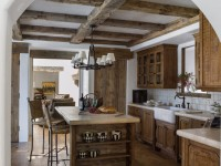 Кухня в стиле шале — фото примеры деревенского шарма в интерьере кухни
