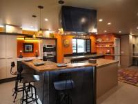 Кухня в оранжевом цвете: варианты идеально сочетания дизайна оранжевого цвета (75 фото)