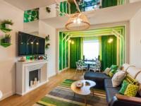Зеленая гостиная — 65 фото лучших идей как оформить интерьер в зеленых тонах