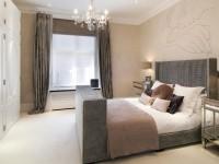 Бежевая спальня — советы по оформлению стильного дизайна на 80 фото