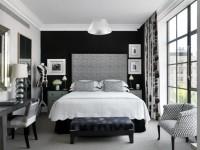 Черно-белая спальня — способы оформления гармоничного дизайна на 65 фото
