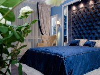 Синяя спальня — особенности оформления спальни в синих тонах на 70 фото