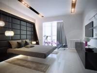 Cпальни в стиле хай-тек — скромный и нестандартный дизайн в современном стиле (95 фото)
