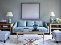 Голубая гостиная — 45 фото идей уютного дизайна с голубыми оттенками