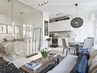 Спальня в однокомнатной квартире — готовые решения дизайна от профи + 75 фото