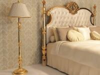 Золотая спальня: роскошный и гламурный дизайн (86 фото)