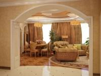 Арка в гостиной: обзор необычных дизайнерских идей (65 фото)