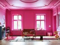 Розовая гостиная — 70 фото нежного дизайна гостиной с розовым оттенком