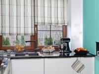 Короткие шторы в дизайне кухни (90+ фото)