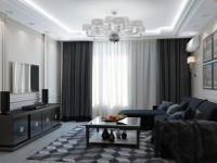 Советы дизайнеров по выбору штор в гостиную (60+ фото)