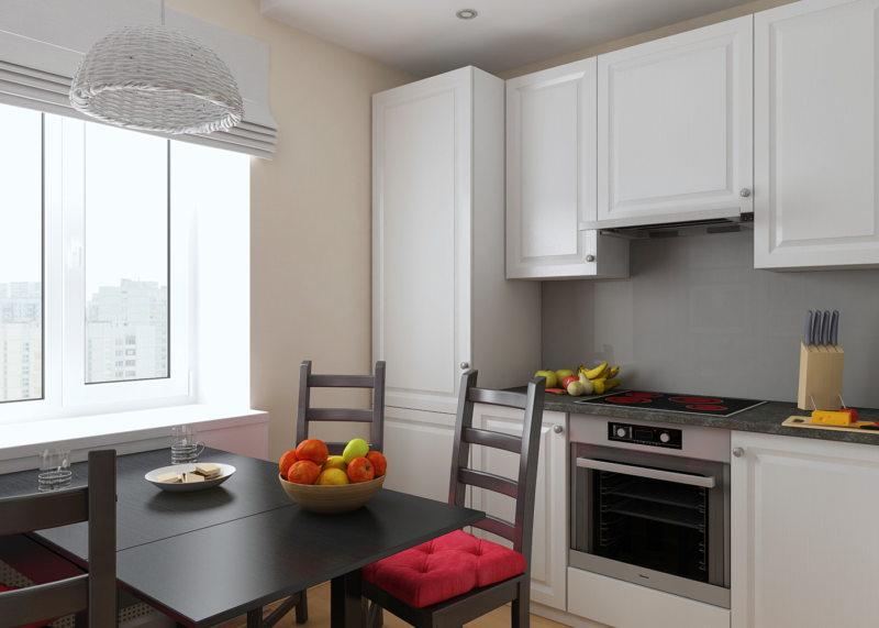 Интерьер кухни 6 кв. м. 2