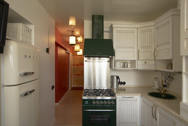 Интерьер кухни 6 кв. м.