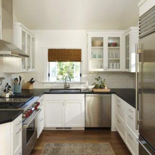 Интерьер маленькой кухни — 100 фото идей оформления дизайна на маленькой кухне