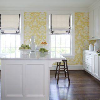 Обои для кухни — 100 фото идей красивых обоев в интерьере кухни