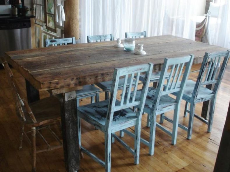 rustic-kitchen-table-sets-color