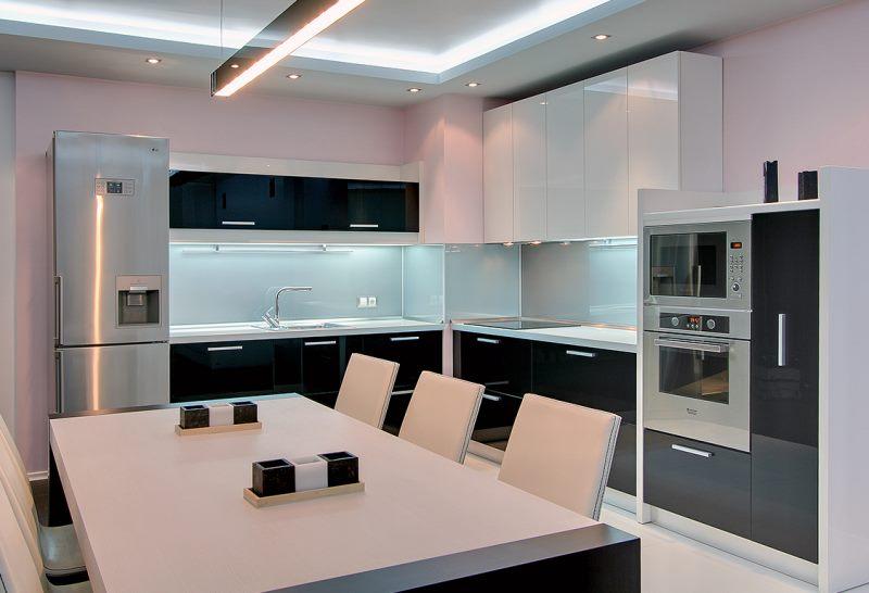 угловые кухни 100 фото интерьера с угловой кухней
