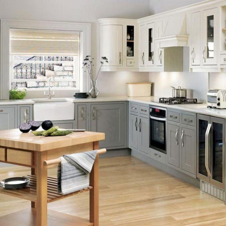 kitchen-small-modern-kitchen-design-white-kitchen-cabinets-ideas-with-wooden-kitchen-island-with-window-treatment-ideas-and-laminate-floor-also-table-kitchen-ideas-best-l-shaped-kitchen-with-island