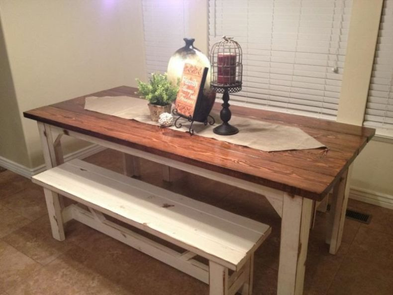 rustic-kitchen-table-with-bench