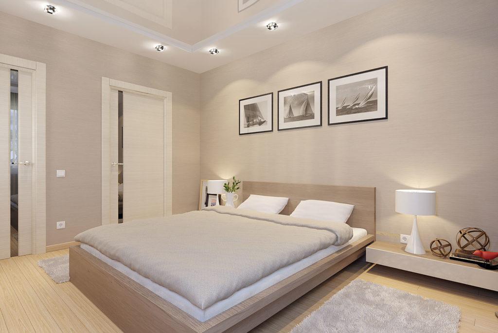 Спальня кофе с молоком дизайн