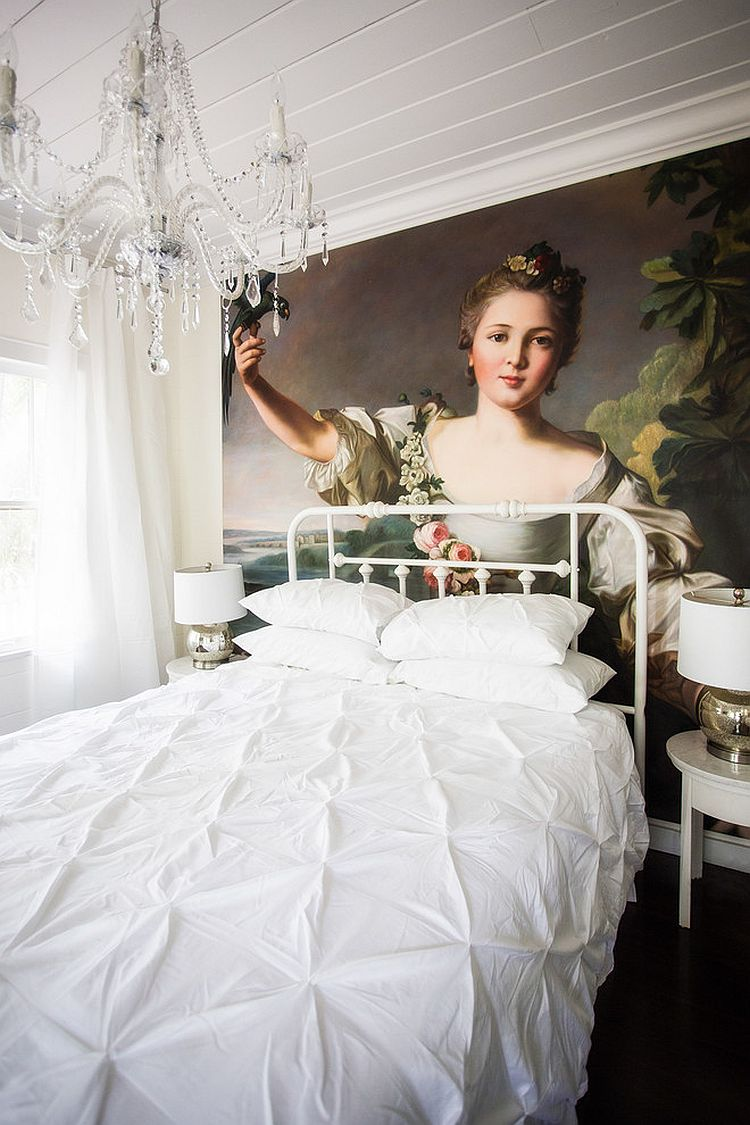 amazing-hand-painted-oil-on-canvas-art-piece-adds-color-to-an-otherwise-all-white-bedroom