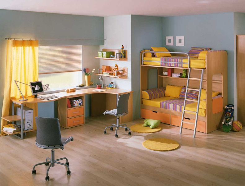 amusing-cool-kids-bedroom-furniture-sets-with-unique-yellow-kids-bedroom-furniture-and-colorful-bedroom-ideas-with-children-bedroom-furniture-with-colorful-design