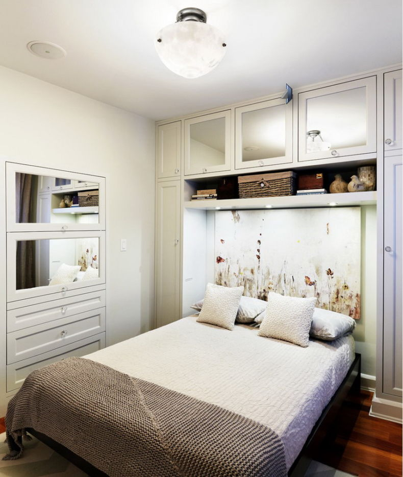 built-in-closet-and-storage-with-simply-bed-design-for-a-small-sapce-bedroom-ideas
