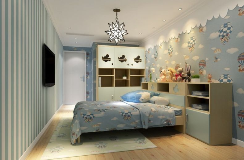 children-bedroom-interior-design-with-furniture-and-wallpaper