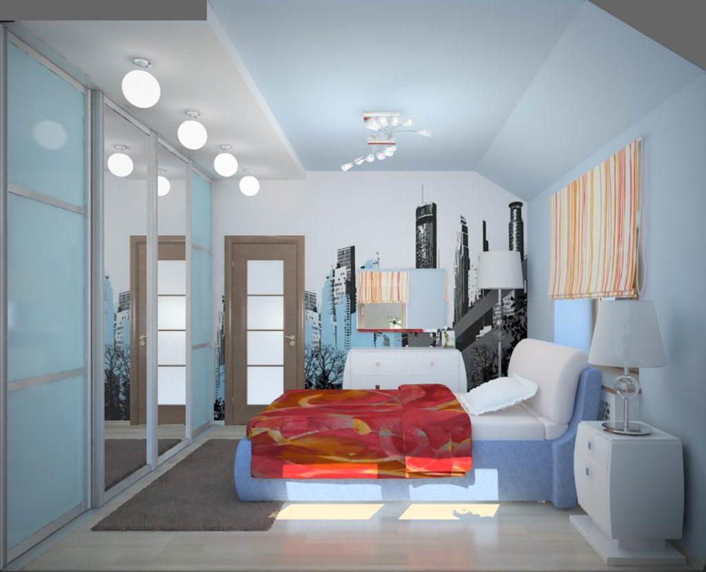 Дизайн комнаты 3 на 4 метра фото для девушки