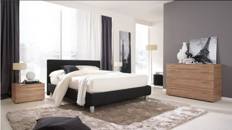 large-bedroom-decorating-ideas-with-black-furniture-carpet-pillows-piano-lamps-wall-color-spiral-cone-legs-southwestern-acrylic