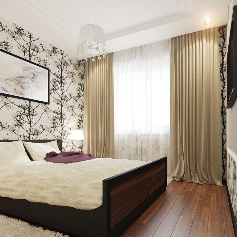 Дизайн спальни 6 кв м фото