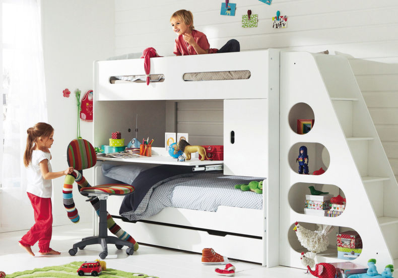 amazing-white-children-bedroom-design-with-bunk-bed-version-children-with-15-kids-bedroom-desks