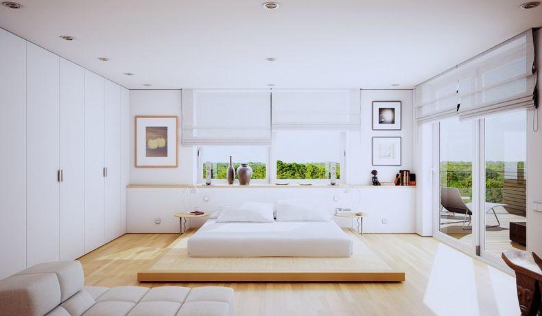 bedroom-endearing-modern-white-bedroom-decoration-using-floating-modern-oak-wood-sliding-bed-table-including-oak-wood-vinyl-tile-bedroom-flooring-and-large-sliding-glass-door-into-wall-in-bedroom-ende