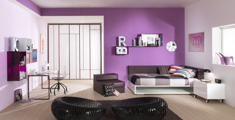 bedroom-kids-room-marvelous-purple-childrens-bedroom-ideas-with-white-wooden-beds-near-white-wooden-cabinet-2-drawer-and-brown-leather-arm-chair-near-bed-also-black-fabric-lounge-2-chairs-on-the-brow