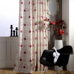 font-b-red-b-font-embroidered-drapes-polyester-cotton-fabrics-font-b-floral-b-font