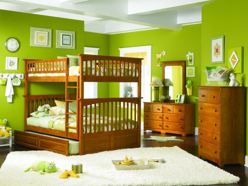 fresh-bedroom-for-twin-kids-sister-decoration-show-special-wooden-bunk-bed-with-appealing-standing-wooden-cabinet-complete-admirable-wooden-dresser-table-furniture-design-children-bedroom-designs-bedr