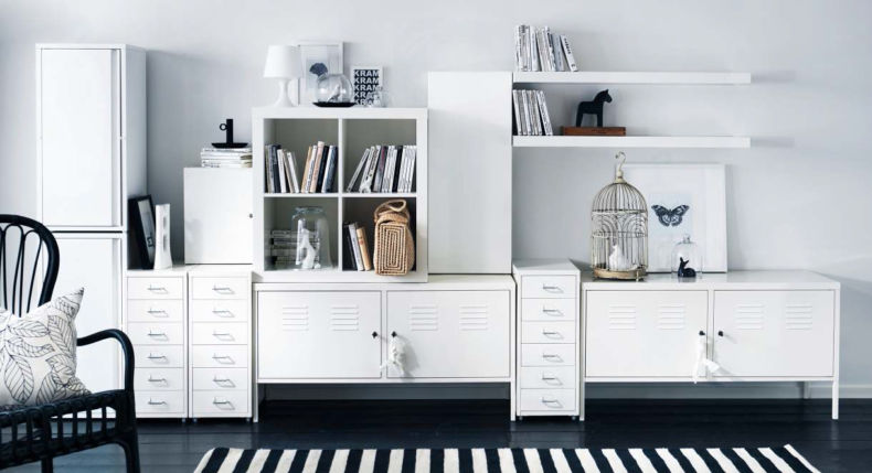 furniture-handsome-white-living-room-decoration-using-modern-ikea-white-wall-shelves-in-living-room-including-rectangular-black-and-white-living-room-wall-paint-and-modern-white-entertainment-center-i