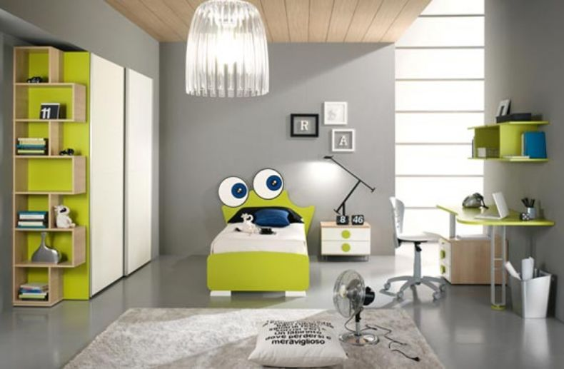 furniture-kids-room-bedroom-awesome-white-grey-wood-glass-unique-design-kids-bedroom-boys-sweet-grey-carpet-night-lamp-green-wood-bed-desk-typist-chairs-pendant-lamp-wall-glass-at-bedroom-as-well-as