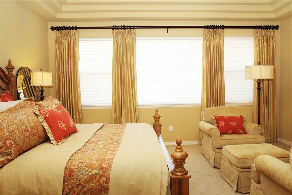 Short bedroom curtains