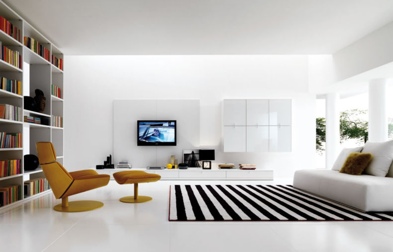 living-room-drop-dead-gorgeous-black-and-white-living-room-decoration-with-minimalist-living-room-furniture-along-with-modern-light-brown-leather-living-room-lounge-chair-and-black-and-white-stripe-li