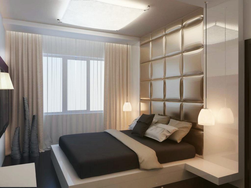 Дизайн спальни 18 метров в современном стиле