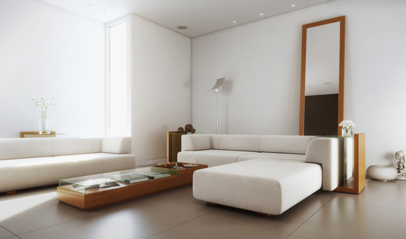 white-simple-living-room