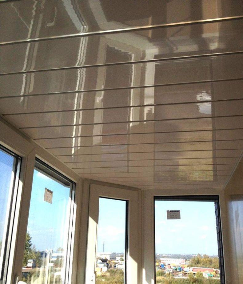 Потолок на балконе - инструкция от мастеров, фото примеры кр.
